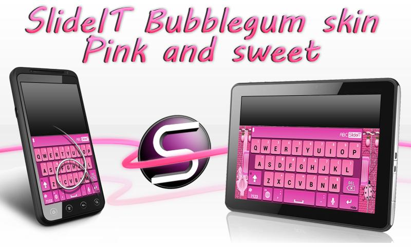 SlideIT Bubblegum Skin - screenshot