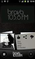Screenshot of Brava Radio