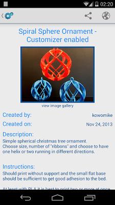 ThingiBrowse - screenshot
