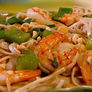 Peanutty Somen Noodles With Prawns