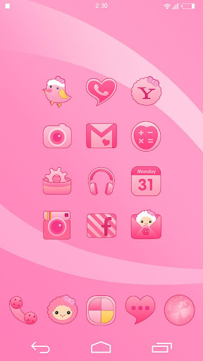 Girly Theme - KK Launcher