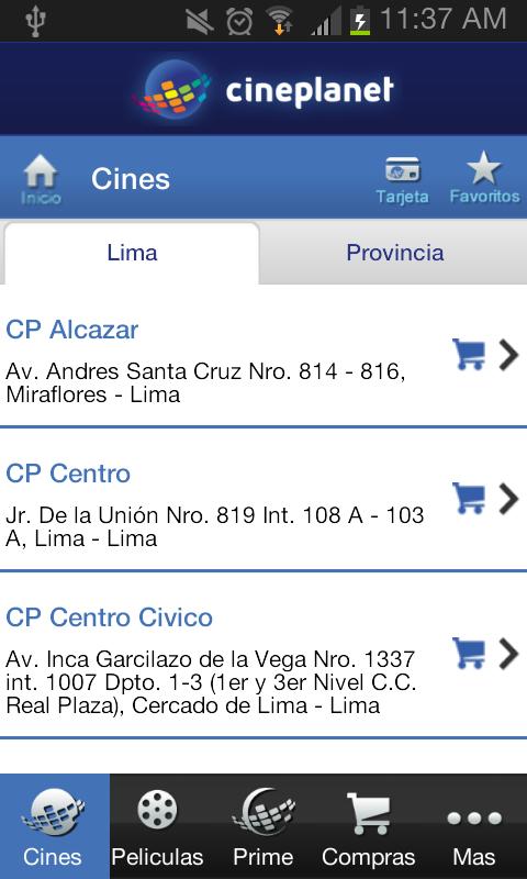 Cineplanet - screenshot