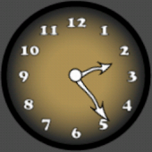 Analog Clock Yellow