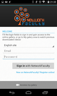 Network Faculty App- screenshot thumbnail