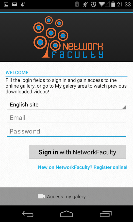 Network Faculty App- screenshot