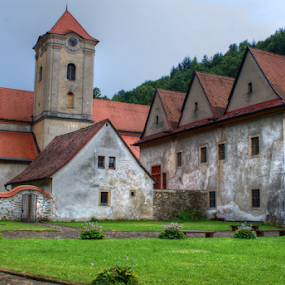Red Monastery by Veronika Gallova - Buildings & Architecture Places of Worship ( cartesian, monk, hdr, church, red monastery, camaldusian, slovakia )