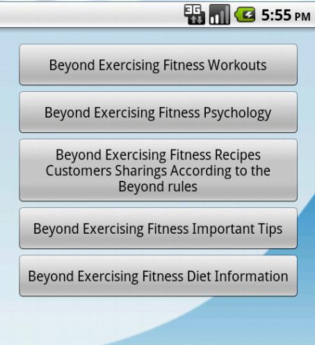 BeyondExercisingApp Fitness