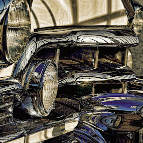 CADLC II by Felix M - Transportation Automobiles ( vintage, blue, cadillac, 55, grey, close up,  )