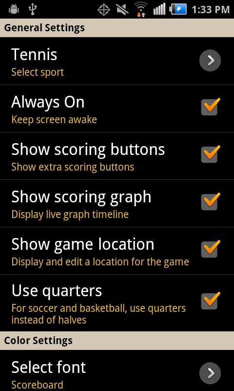 Keep Score - Scoreboard - screenshot