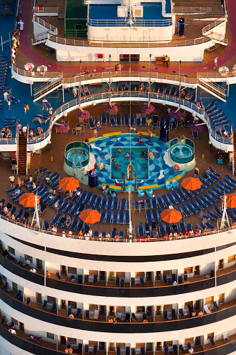 Carnival-Dream-deck - Play in the pool, soak in a hot tub or lounge in a deck chair with a cool drink on your Carnival Dream cruise.