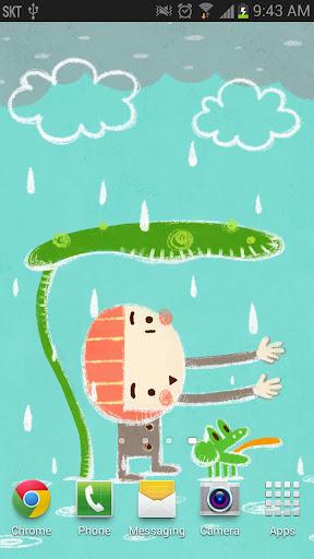In The Rain - Live Wallpaper