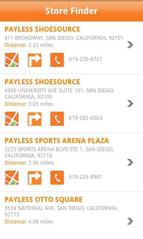 Payless ShoeSource - screenshot