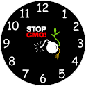 Stop GMO alarm clock icon