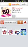 Screenshot of Cienradios