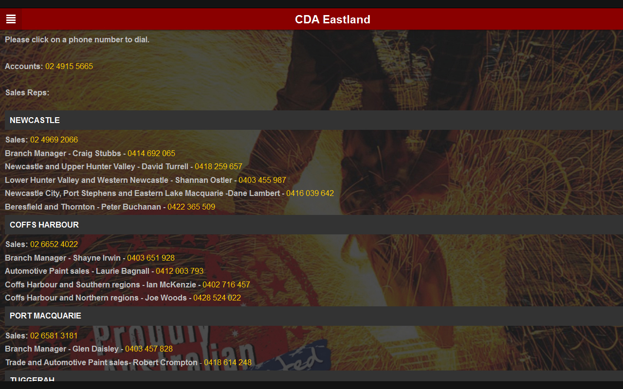 CDA Eastland Trade Supplies- screenshot