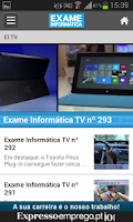 Screenshot of Exame Informática Online