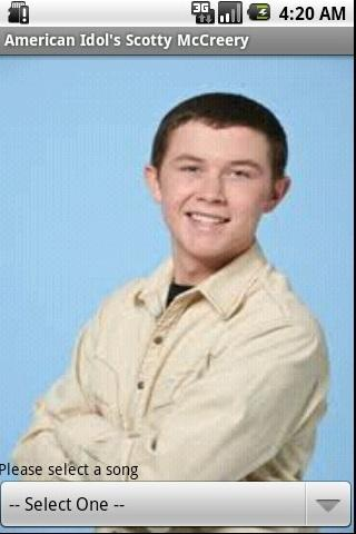 American Idol Scotty McCreery - screenshot