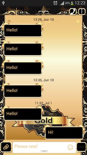 GO SMS Proのゴールド