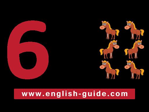 الارقام الأنجليزية للأطفال