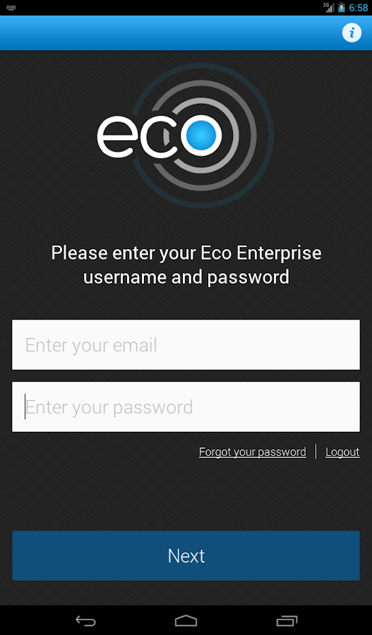 Eco On Site Tablet - screenshot