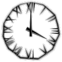 Black Icicle Transparent Clock logo