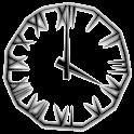 Black Icicle Transparent Clock logo