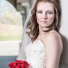 by Aaron Lockhart - Wedding Bride ( wedding photography, wedding, roses, bride, perfect )