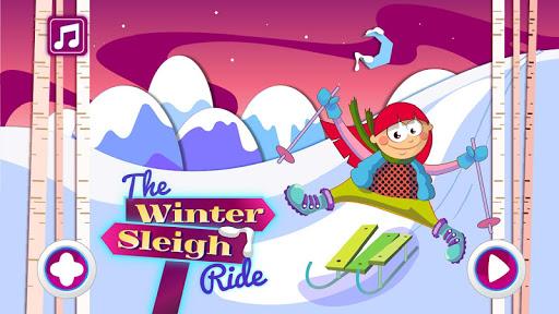 冬季乘坐雪橇