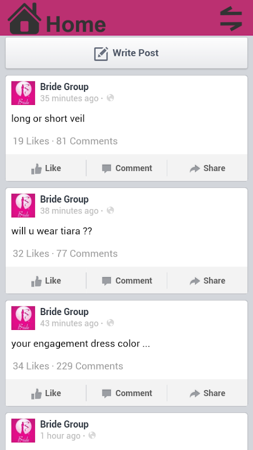 Bride Group - screenshot