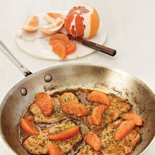 Veal Scaloppine with Ruby Red Grapefruit.