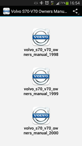 Volvo S70-V70 Owners Manuals