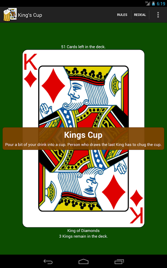 Kings Cup Drinking Game- screenshot