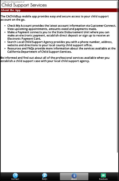 CAChildSup - screenshot