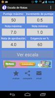 Screenshot of Escala de Notas