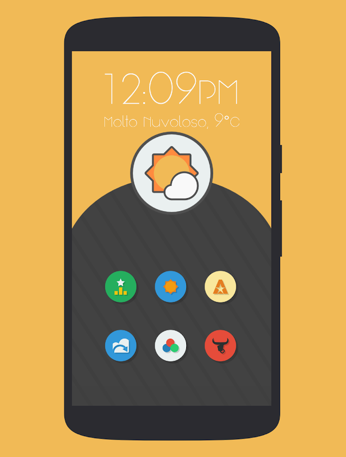 Naxos Flat Round Icon Pack - screenshot