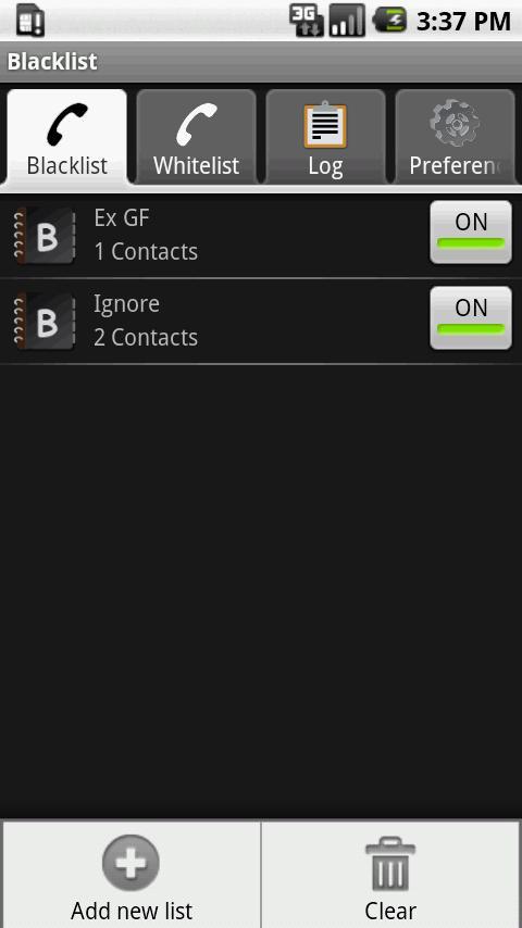 Blacklist Free- screenshot