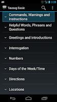 Screenshot of Tausug Basic Phrases