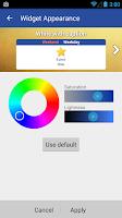 Screenshot of Blik Calendar Widget