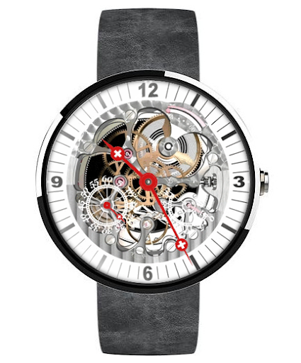 Tell's Round Skeleton Watch TC