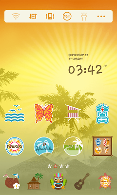 AlohaHawaii LINELauncher Theme - screenshot