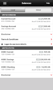 HSBC Mobile Banking - screenshot thumbnail