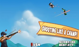 Screenshot of 99 Bullets Bottle Shooting