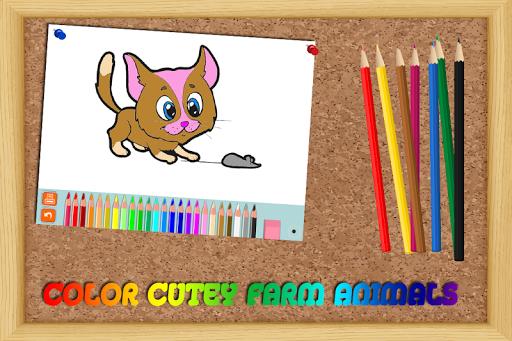 Coloring Game - Farm Animals