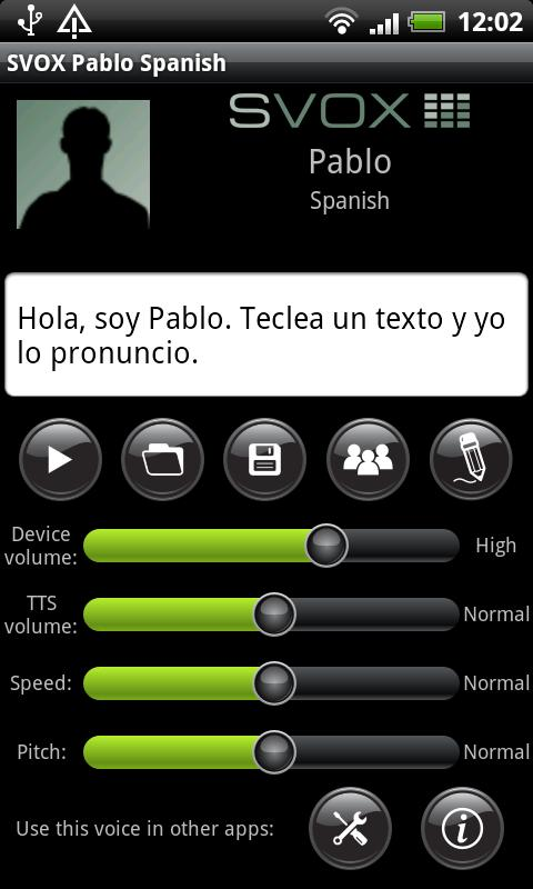 SVOX Spanish Pablo Trial- screenshot