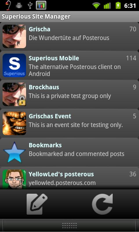 Superious (Posterous Spaces) - screenshot