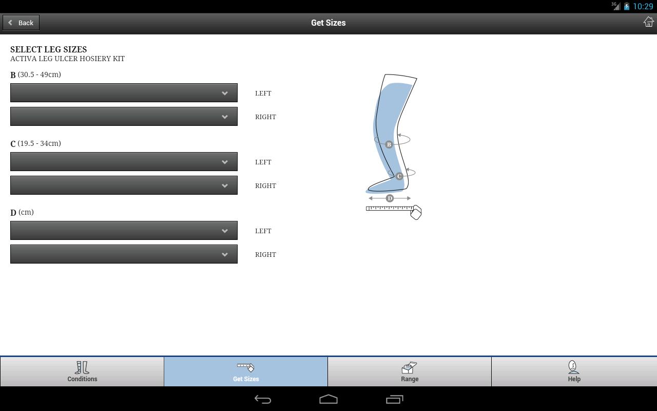 Activa Hosiery Selector - screenshot