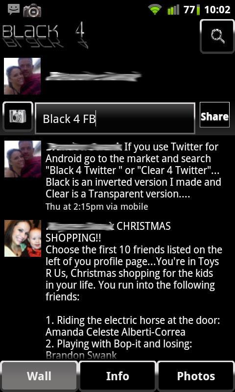 Black 4 Facebook - screenshot