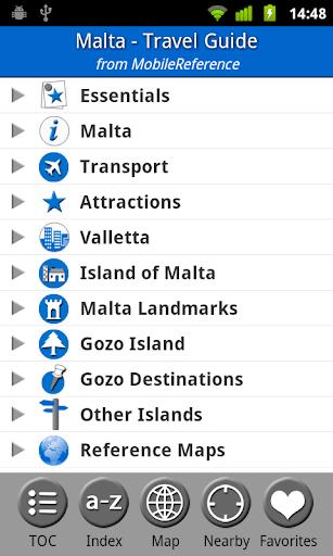 Malta - Travel Guide Map