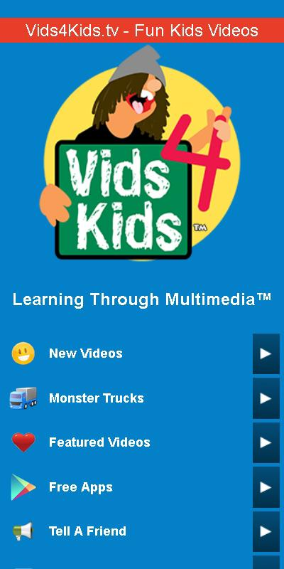 Vids4Kids.tv - Fun Kids Vids - screenshot