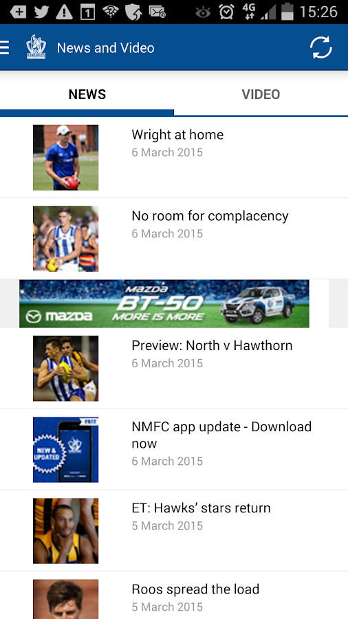 North Melbourne Official App- screenshot